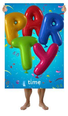 HappyBalloon-ตัวอักษรโปสเตอร์