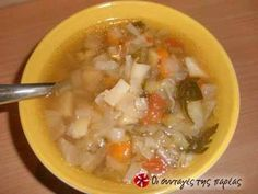 Great recipe for Soup with vegetables. A soup packed with vitamins for the cold winter days. Recipe by elen_a Vegetarian Cabbage, Vegan Vegetarian, Greek Recipes, Soup Recipes, Main Dishes, Side Dishes, Parsley Potatoes, Fresh Vegetables, Vegan Gluten Free