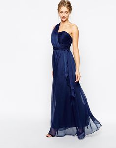 Image 4 of True Decadence Wrap One Shoulder Maxi Prom Dress £55