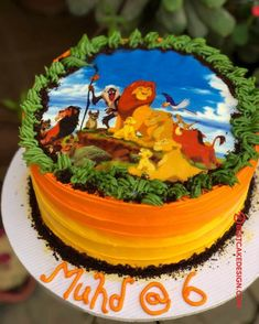 50 Most Beautiful looking Lion King Cake Design that you can make or get it made on the coming birthday. Lion King Party, Lion King Birthday, Cake Designs Images, Cool Cake Designs, Lion King Cupcakes, New Orleans King Cake, King Cake Recipe, King Cake Baby, Lion King Baby Shower