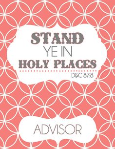 1000+ images about YW - Stand Ye In Holy Places on Pinterest | Young ...