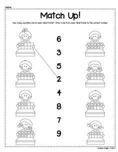 Great practice, match the tens frame to the correct number. Montessori Math, Preschool Math, Math Classroom, Kindergarten Math, Fun Math, Math Activities, Teaching Skills, Teaching Math, Math Practice Worksheets