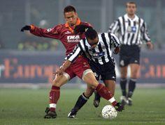 Edgar Davids v Hidetoshi Nakata - Juventus v AS Roma