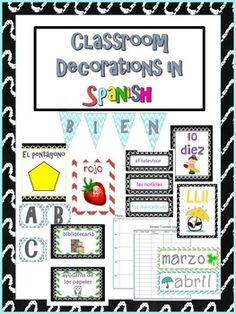 Perfect for the bilingual, dual language or Spanish classroom!!!