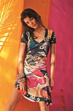 Be our 'VALENTINE'. Dress by Desigual.