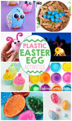 Have a million Easter eggs? Here is a roundup of the most colorful Easter egg crafts for kids!