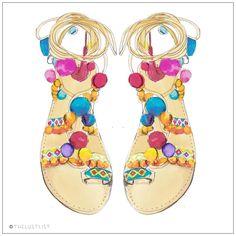 """""""The Lust List   Happy Feet Penny Lane Sandal by Elina Linardaki #PennyLane #Thelustlist #ElinaLinardaki"""""""