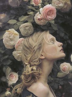 "Photo by Perla Maarek, reminiscent of John Waterhouse's ""Soul of the Rose."""