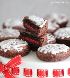 Brownie-covered oreos: Dip oreos in brownie batter, bake in cupcake tin 12-15 minutes. Top w/white icing and sprinkles
