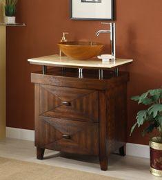Chans Furniture 28 in Benton Collection Onyx counter top Verdana Vessel Sink Bathroom Vanity Small Bathroom Vanities, Bathroom Vanity Cabinets, Modern Bathroom Decor, Vanity Sink, Bathroom Ideas, Bathroom Images, Design Bathroom, Bath Ideas, Bathroom Renovations