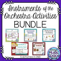 A collection of 5 activities including games and worksheets to reinforce your students' learning of the instruments of the orchestra! Music Education Games, Education For All, Education Logo, Teaching Music, Education Quotes, Music Games, Education Posters, Kids Music, Music Mix