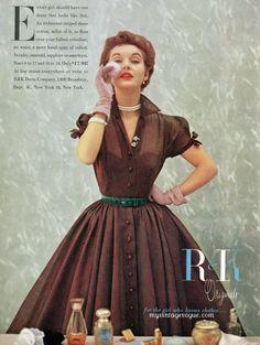 vintage1952 ad  plum dress
