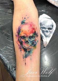 Tatuador mexicano con especialidad en tatuajes estilo acuarela.