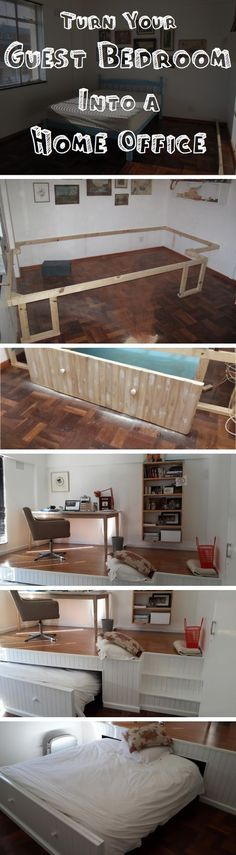 Turn Your Guest Bedroom Into A Home Office bedroom office diy craft crafts interior design home decor diy ideas diy crafts how to home crafts home ideas home office craft furniture tutorials home decorating