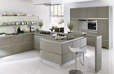 cocina moderna gris