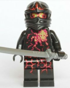 LEGO Ninjago - NRG Cole and Sword (Shamshir) by LEGO. $15.99. Removed from a LEGO set.. Figure is less than 2 inches tall.