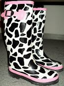 Cow rainboots?? I am so buying these!