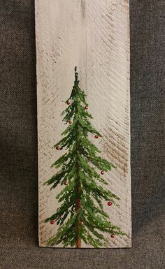Christmas Reclaimed Wood Pallet Art, Joy, Hand painted Pine tree, Red Christmas decorations, upcycled shabby chic, GIFTS UNDER 20  Original Acrylic painting on reclaimed white wood siding  This unique piece is 5 1/2 x 17 tall.. It is a fun, personal touch to add to your Christmas decor or a great gift for teachers.  All of my creations are made of reclaimed boards. They are hand painted and are made after they are ordered.  Although I try to duplicate original as closely as possible, there…