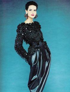 Yves Saint Laurent ensemble, 1980s.