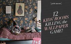 Wallpaper in kids' rooms: 12 amazing nurseries and kids spaces killing the wallpaper game! #wallpaper #homedecor #kidsrooms #sofreshandsochic