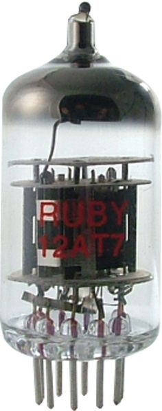 12AT7 Preamp tube, Ruby brand  www.amplifiedparts.com