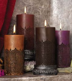 ... Gold Coast Africa Product Information - S/2 MOROCCAN EMBOSSED PILLARS