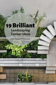 19 Brilliant Landscaping Timber Ideas | Happy DIY Home Front Yard Landscaping, Landscaping Ideas, Building A Retaining Wall, Landscape Timbers, Garden Tool Shed, Backyard Vegetable Gardens, Outdoor Living, Outdoor Decor, Garden Spaces