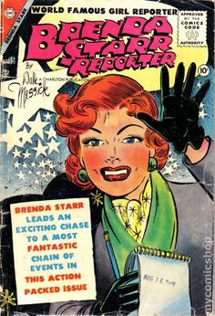 Brenda Starr Reporter vol. 1 no. 15, published by Charlton Comics, United States, 1955, by Dale Messick.