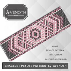 Bead peyote and loom patterns for beaded bracelets par AvenothBeadPatterns Bead Loom Patterns, Beaded Jewelry Patterns, Peyote Patterns, Bracelet Patterns, Beading Patterns, Seed Bead Bracelets, Seed Bead Jewelry, Beading Jewelry, Bracelets