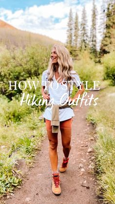 Indie Outfits, Preppy Outfits, Cute Outfits, Fashion Outfits, Southern Outfits, Fashion Shirts, Cute Hiking Outfit, Summer Hiking Outfit, Outfit Winter