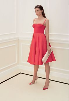Elisabetta Franchi  Spring/Summer 2016: I love this pink creation! The dress is classy and lovely. Adorable pumps!