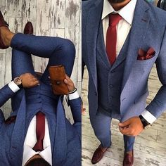 Stunning outfit perfect to look the part at any party or bar this weekend ___ #suitstyle #suitedman #
