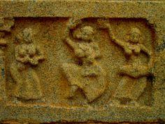 Hampi Sculpture depicting women mridanga player and nattuvanar