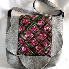 #2028, big bag made of felt, 50x45 cm, $95