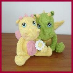 Bebés dragón amigurumi