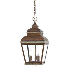 Found it at Wayfair - Mossoro Walnut 3 Light Outdoor Hanging Lantern