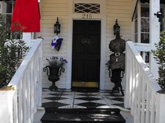 Porches are rooms right?  I love the floor here.  Fun.  Just Fun.