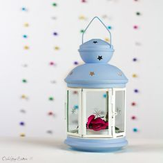 Lantern-Baby Shower Decorations-Baptism First Communion Confirmation Decorations-Baby Boy-Baby Name Party Lantern Centerpiece