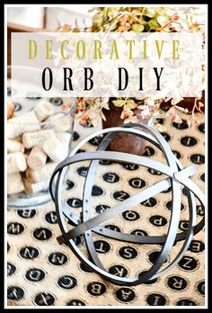 DECORATIVE ORB DIY- A very easy-to-make trendy orb - very easy to make  from embroidery hoop