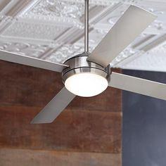 "52"" Courier Brushed Nickel Ceiling Fan - #M2564 | LampsPlus.com"