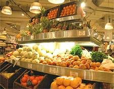 Produce at a supermarket in Paris, France