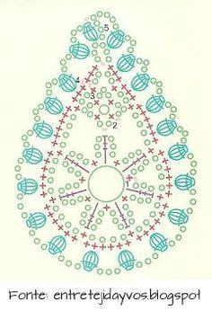 Crochet Paisley – Chart ❥ // hf is creative inspiration for us. Crochet Paisley, Crochet Motifs, Freeform Crochet, Crochet Diagram, Crochet Stitches Patterns, Crochet Chart, Crochet Squares, Love Crochet, Irish Crochet