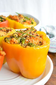 Salmon and Quinoa Stuffed Peppers FoodBlogs.com