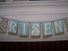 Angel Diann's Emporium HE IS RISEN! SOLD Easter Garland, He Is Risen, Banner, Faith, Picture Banner, Banners, Loyalty, Believe, Religion