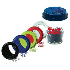 Includes 100 PVC-coated paper clips in color to match lid. Magnetic lid holds clips.    Starts at $3.95