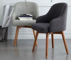Midcentury-style Saddle Office Chairs at West Elm