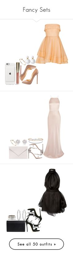 """""""Fancy Sets"""" by laylah-wish ❤ liked on Polyvore featuring Alex Perry, Christian Louboutin, Pieces, ASOS, Jason Wu, Stuart Weitzman, River Island, Verali, Tiffany & Co. and Rivière"""