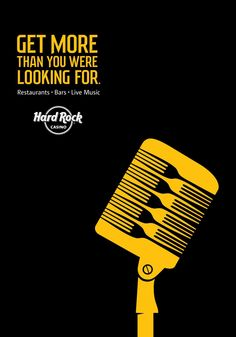 Print advertisment created by Taxi, Canada for Hard Rock Casino, within the category: Recreation, Leisure. Creative Advertising, Advertising Poster, Advertising Campaign, Ads Creative, Hard Rock, Hiring Poster, Rock Bar, Ad Of The World, Great Ads