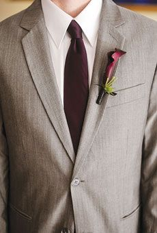 Groomsmen sported calla lily boutonnieres. Photo by Rebekah J. Murray Photography; Flowers by Fleurish Events
