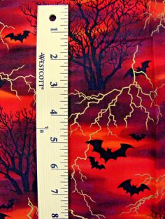 1 Yards Halloween Fabric Bats Tree Silhouettes Gold Lighting x 55 in… Halloween Fabric, Halloween Stuff, Spooky Halloween, Tree Silhouette, Gold Light, Bats, Worlds Largest, Silhouettes, Lighting